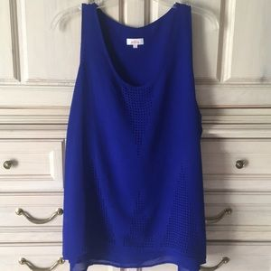 Sleeveless top with cutout detail